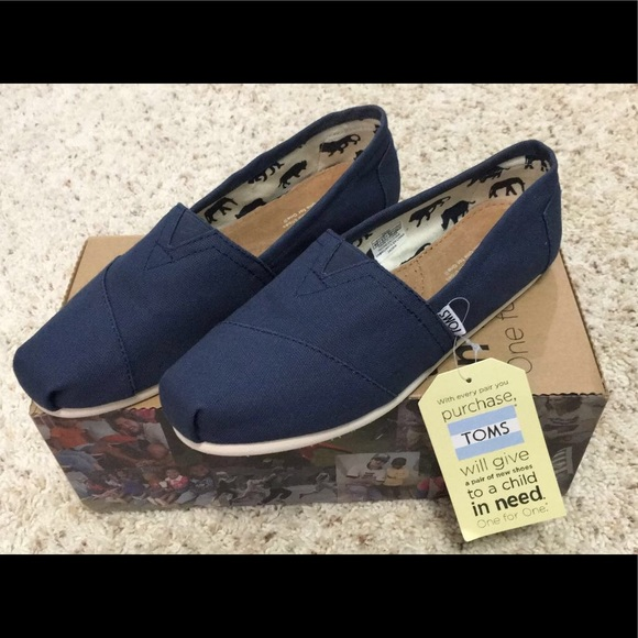 Toms Shoes   Toms Navy Canvas Womens