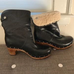 1 HR SALE! UGG Lynnea 1958 Black Leather Boots