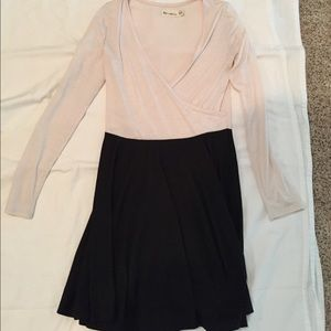 Cream/black ballet dress