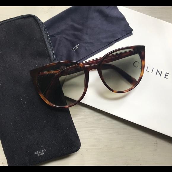 """7b60ff55ea62 Celine Accessories - Celine """"Thin Mary"""" tortoise sunglasses"""