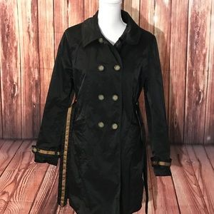 Cynthia Rowley Double stitched trench coat