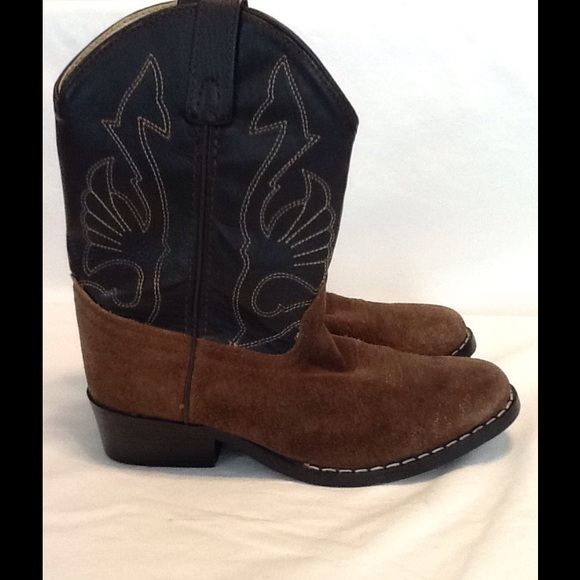 b219655ce01 Boys Masterson Boot Co. Suede leather western boot