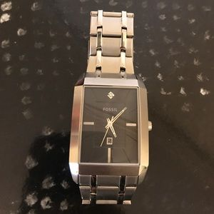 Men's silver fossil watch