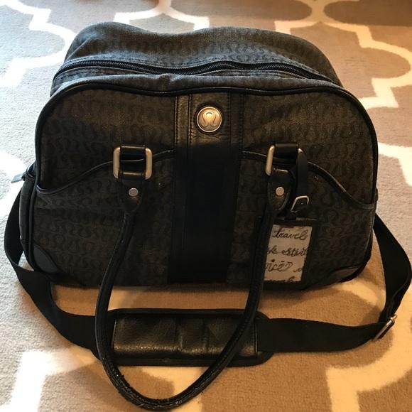 4a3b1dea398 lululemon athletica Handbags - Lululemon Classic Canvas Gym Bag Yoga Duffel