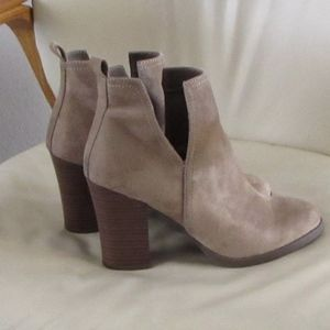 JUSTFAB TAN SUEDE LIKE BOOTS