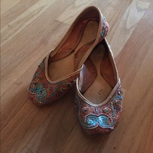 Shoes - Vintage Beaded Flats