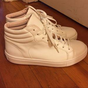 White hightop sneakers