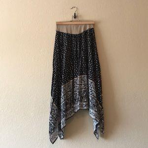 Motherhood Maternity Boho Paisley Skirt