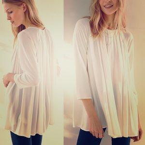 UO Kimchi Blue white Chiffon Tunic shirt / blouse