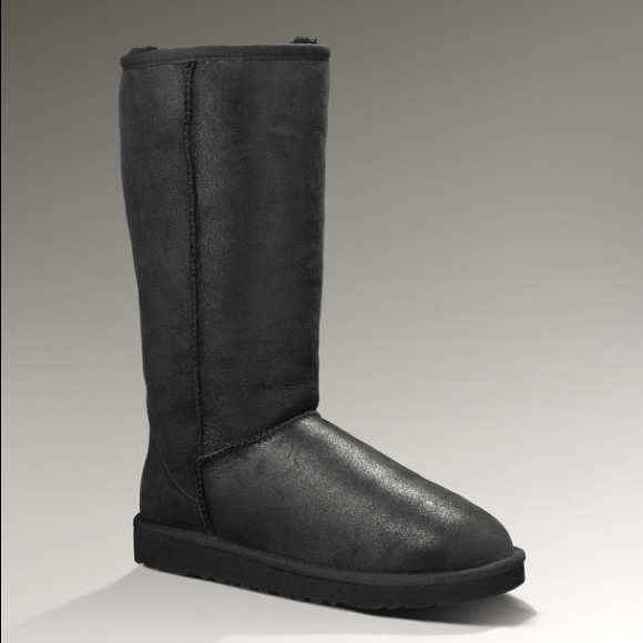womens ugg classic tall black boots