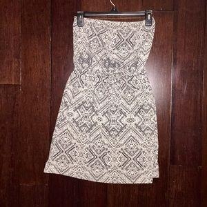 Aztec design strapless dress