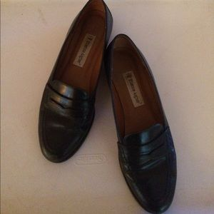 Navy Blue Aigner Leather Penny Loafers sz 7.5