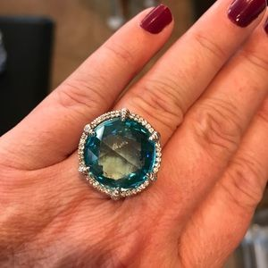 Jewelry - Judith Ripka sterling and blue quartz ring