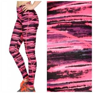 Abstract Workout Active Leggings