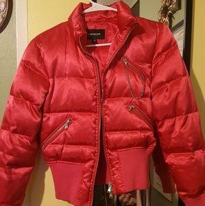 express satin puffy jacket