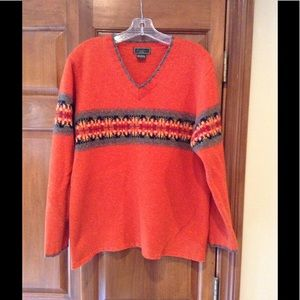 Eddie Bauer V-Neck Sweater Large