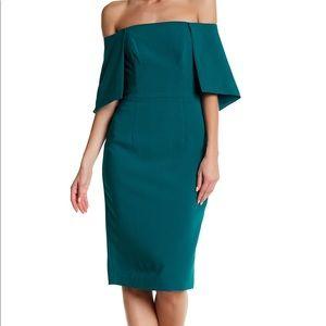 Black Halo Eloise off the shoulder dress Jade 6