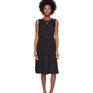 Kate Spade Crepe Rambling roses black day dress