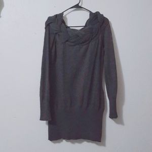 Rue21 Gray Braided Off the Shoulder Sweater