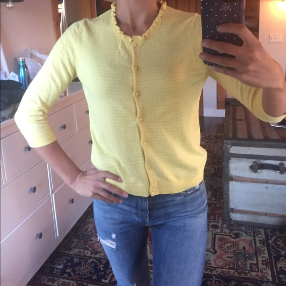 64% off Banana Republic Sweaters - BR soft yellow cardigan from ...