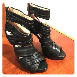 Boutique 9 Black Leather High Heels Size 7