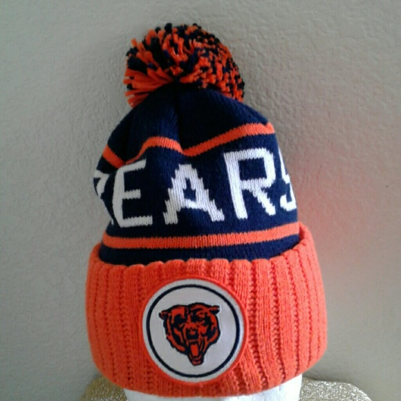 f6d217a11 MITCHELL & NESS CUFFED CHICAGO BEARS KNIT HAT