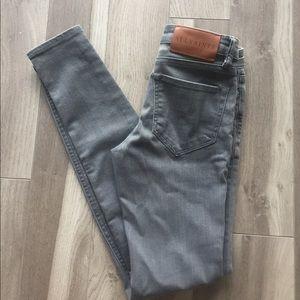 All Saints grey skinny jeans