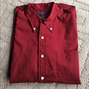 Men's short sleeve button up dress shirt Dockers L