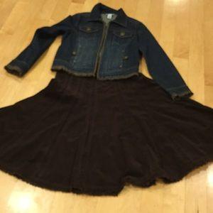 NWOT CAbi corduroy skirt