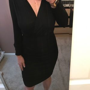 Rouched cotton dress