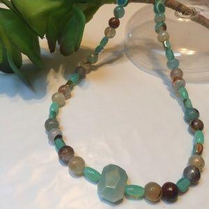 Amazonite diffuser necklace natural gemstones