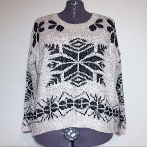 Urban Day Black & Gray Snowflake Holiday Sweater