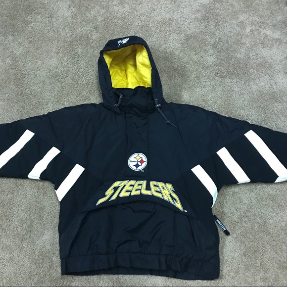 new arrival f3a3b a6349 Vintage Pittsburgh Steelers Starter Puffer jacket