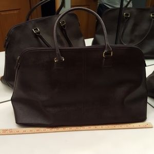 NEW ESTEE LAUDER BROWN FAUX LEATHER OVERSIZED TOTE
