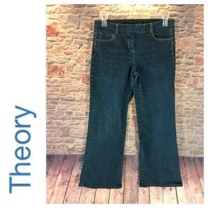 💸Theory flare leg denim trouser in size 8