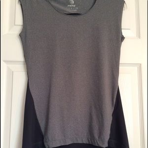 MPG Work out top gray high low style small