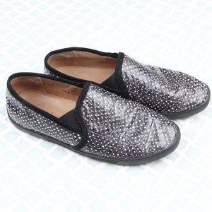 Joie Faux Snakeskin Slip On Sneakers