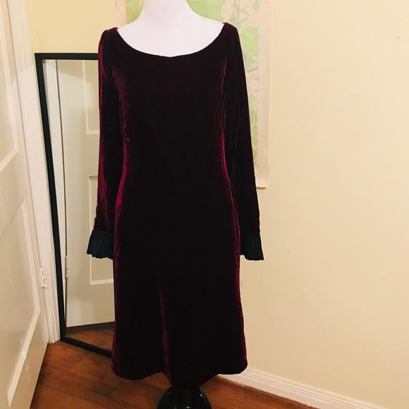 bd3ebe20d3a Yves Saint Laurent Dresses | Vintage Ysl Dress Burgundy Velvet ...