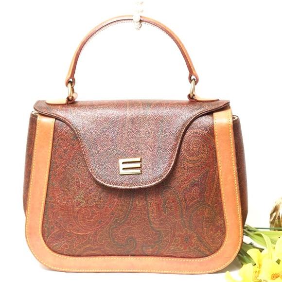 6dee34cac73ae Etro Handbags - Authentic ETRO Handbag PVC Leather Vintage