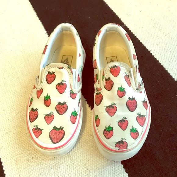 Vans Shoes   Vans Strawberry Slip Ons