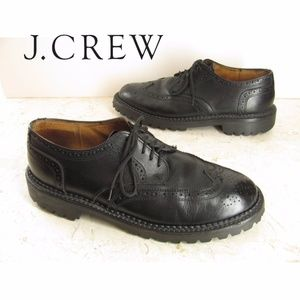 J Crew Oxford Shoes 10.5 M Mens Black Lug Sole