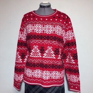 Holiday Time Christmas Tree Sweater Plus Size XXL