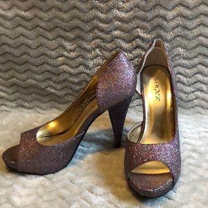 Shoes - Purple sparkle heels