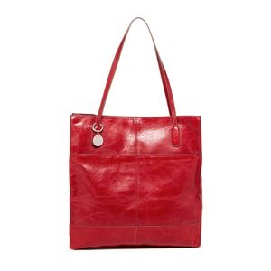 Hobo FINLEY leather tote in CRIMSON