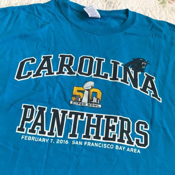 f0bed953 Carolina Panthers Super Bowl t-shirt Men's XL