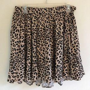 Torrid Leopard Skater Skirt w/pockets