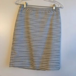 Petite Black and White Small Tweed Pencil Skirt