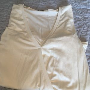 Tops - Cream long sleeved surplus top