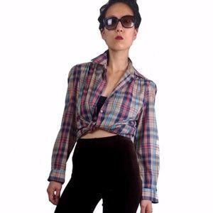 Vintage Diane Von Furstenberg Plaid Shirt
