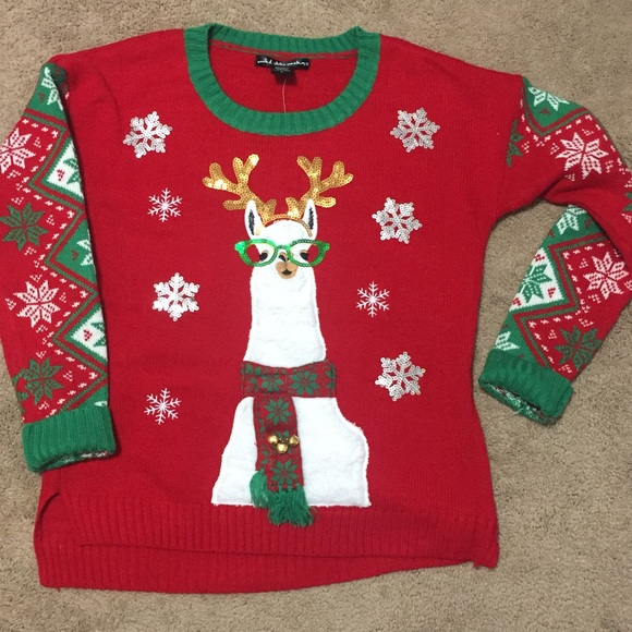 United States Sweaters Sweaters Ugly Llama Christmas